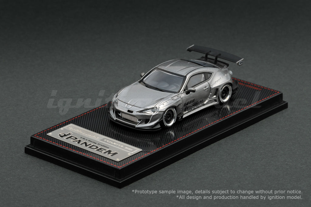 Ignition Model 1/64 PANDEM TOYOTA 86 V3 Gray Metallic - Tarmac Works Exclusive Color