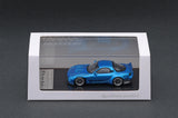 Ignition Model 1/64 Rocket Bunny RX-7 (FD3S) Blue Metallic - Tarmac Works Exclusive Color