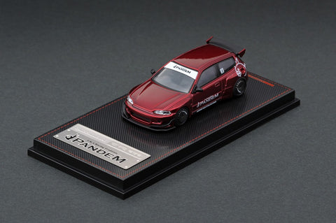 Ignition Model 1/64 PANDEM CIVIC (EG6) Red Metallic - Tarmac Works Exclusive Color
