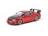 Ignition Model 1/64 Nismo R34 GT-R Z-tune Red Metallic - Miyazawa Mokei Limited Edition