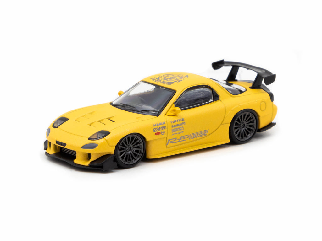 Ignition Model 1/64 Mazda RX-7 (FD3S) RE Amemiya Matte Yellow
