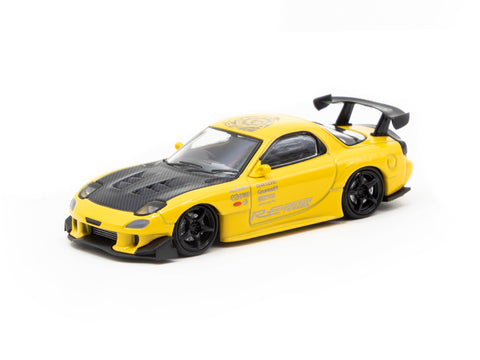 Ignition Model 1/64 Mazda RX-7 (FD3S) RE Amemiya Yellow