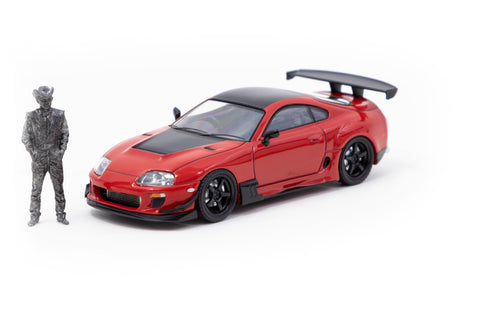 Ignition Model 1/64 Toyota Supra JZA80 RZ Red with Mr. Orido