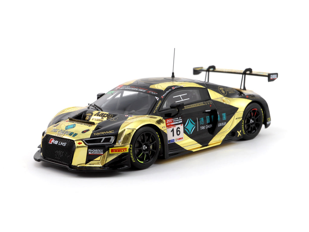 Minichamps x Tarmac Works 1/43 Audi R8 LMS - AAPE by A Bathing Ape - China GT Championship 2017 - Melvin Moh/ Eric Lo