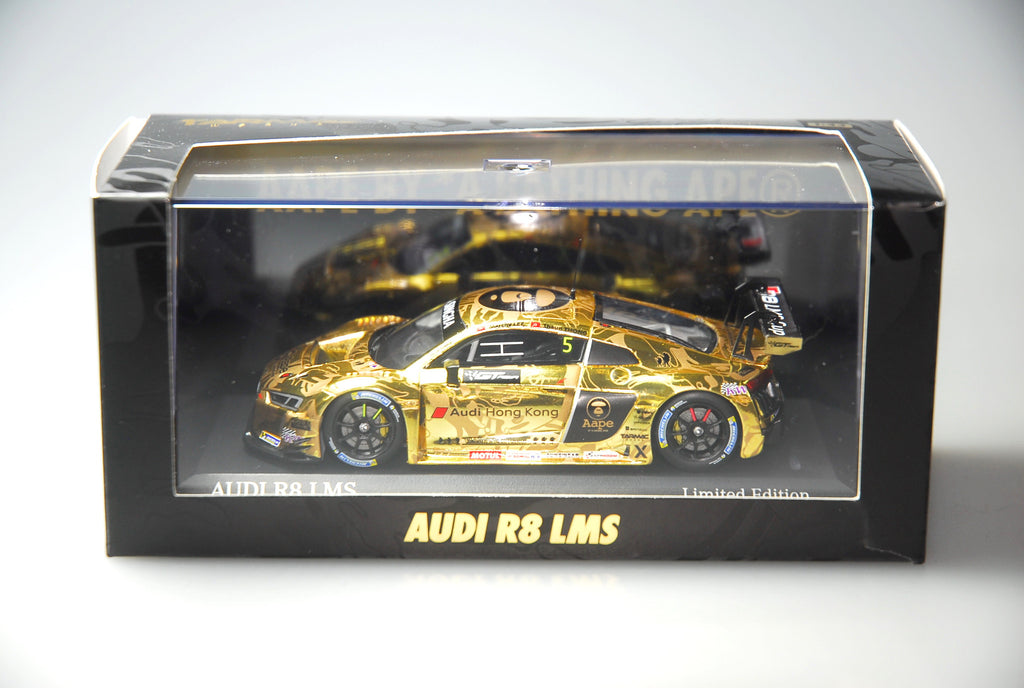 Minichamps x Tarmac Works 1/43 Audi R8 LMS  - AAPE by A Bathing Ape - 2016 GT Asia 2nd Place Overall - Marchy Lee / Shaun Thong