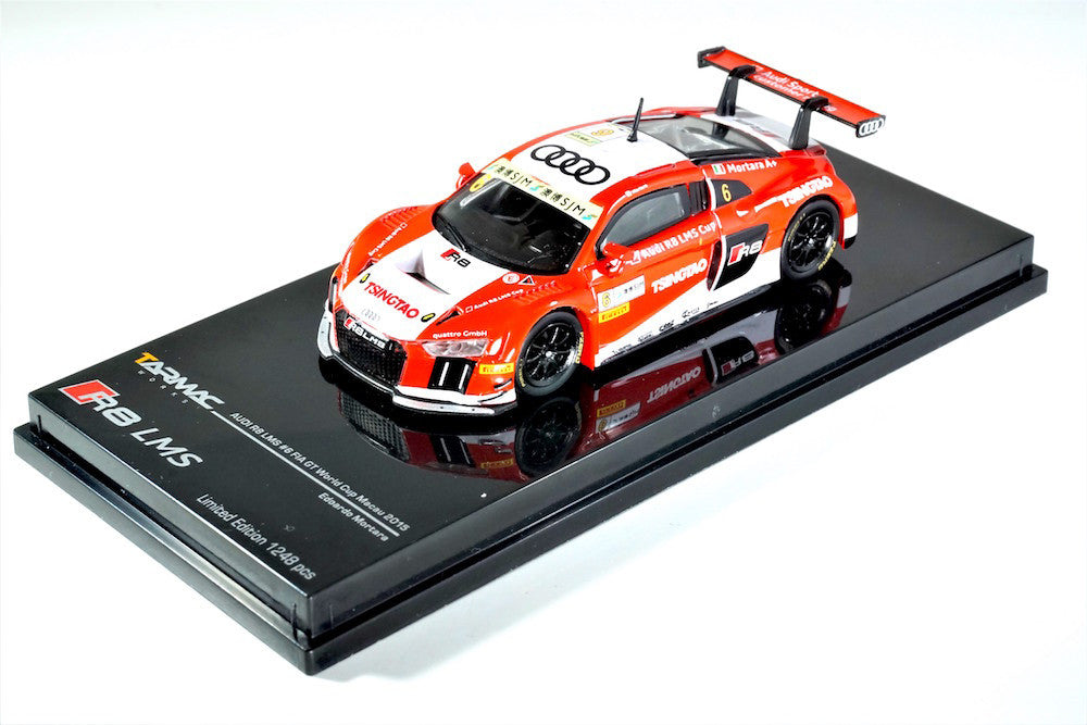 Tarmac Works 1/64 Audi R8 LMS 2015 Macau FIA World Cup E. Mortara - 2017 HK Toy Festival Special Edition *LIMIT TO 3 PER PERSON*