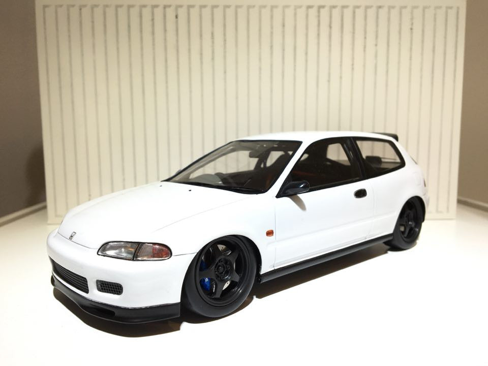 tarmac works 1 18 spoon honda civic eg6 plain white. Black Bedroom Furniture Sets. Home Design Ideas