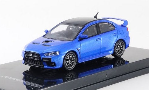 Tarmac Works 1/64 Mitsubishi Lancer Evolution X Final Edition - Octane Blue