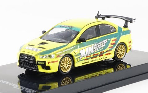 Tarmac Works 1/64 Mitsubishi Lancer Evolution X Touring Car - Tuned by JUN - MiniCar Festival Special Edition - HOBBY64