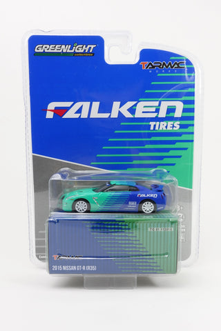 Greenlight x Tarmac Works 1/64 Nissan GT-R R35 (2015) Falken Tires