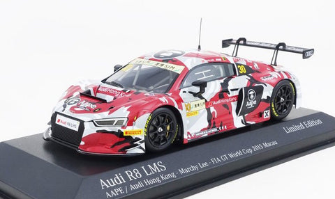 Tarmac Works x Minichamps 1/43 AUDI R8 LMS  - AAPE by A Bathing Ape - Marchy Lee - FIA GT WORLD CUP MACAU 2015