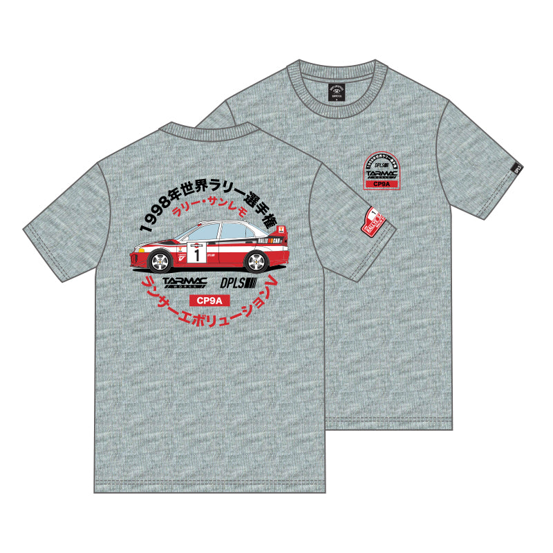 Tarmac Works Lancer EVO V Tee - Grey - By DPLS