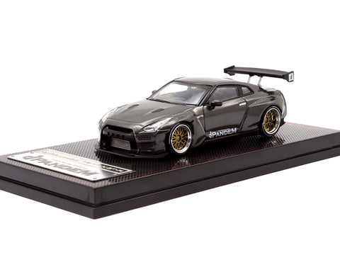 Ignition Model 1/64 Pandem R35 GT-R Gun Metallic