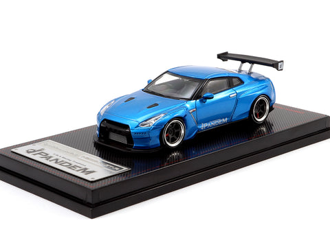 Ignition Model 1/64 Pandem R35 GT-R Blue Metallic