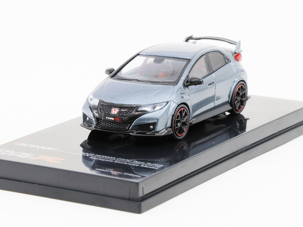 Tarmac Works HOBBY64 1/64 Honda Civic Type R FK2 - Polished Metal Grey - Malaysia Exclusive Model