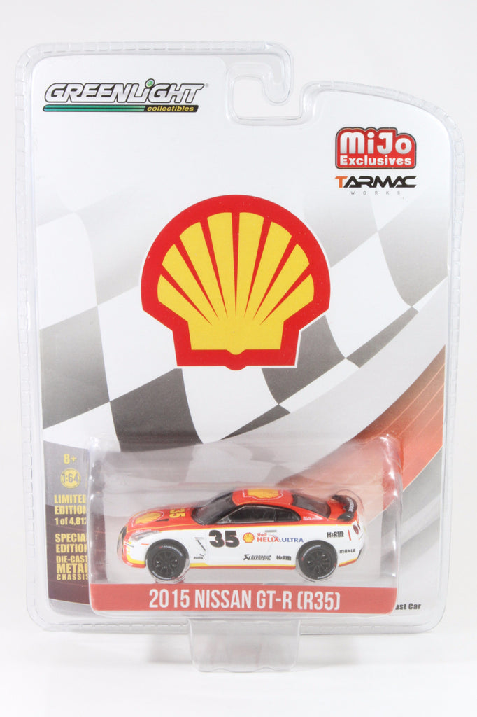 Greenlight x Tarmac Works 1/64 Nissan GT-R R35 (2015) Shell Racing Scheme - MiJo Exclusives
