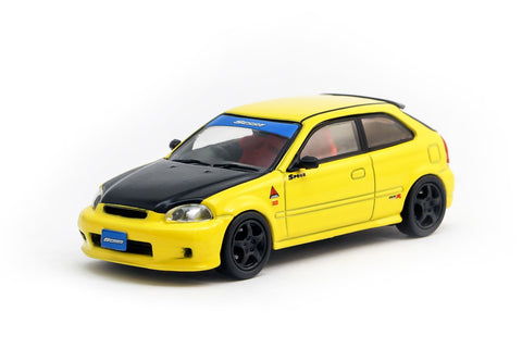 Tarmac Works 1/64 Honda Civic Type R EK9 Yellow