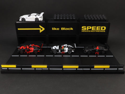 *Mercedes me like Black Special* Tarmac Works 1/64 Mercedes-AMG GT3 4A Like Black #3 Boxset