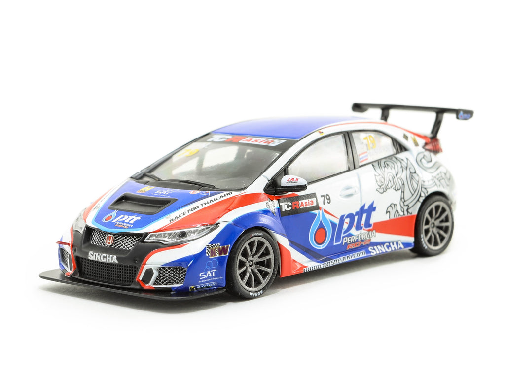 Tarmac Works 1/43 Honda Civic Type R FK2 TCR Asia 2017 #97 Tin Sritrai
