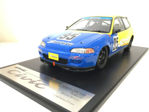 Tarmac Works 1/18 Spoon Honda Civic EG6 - Spoon Racing