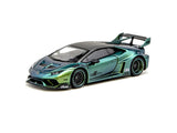 MINIGT x Tarmac Works 1/64 LB★WORKS Lamborghini Huracán GT Magic Green RHD - COLLAB64