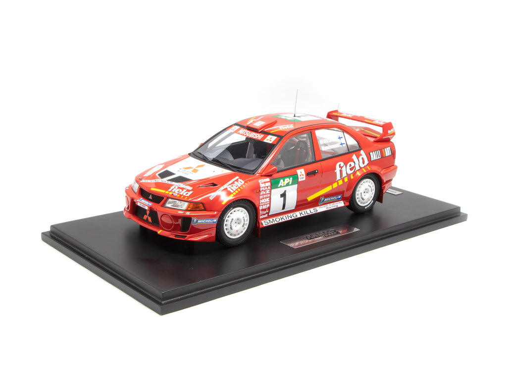 Tarmac Works 1/18 Mitsubishi Lancer Evolution V Australian Rally 1998 #1 Winner - HOBBY18