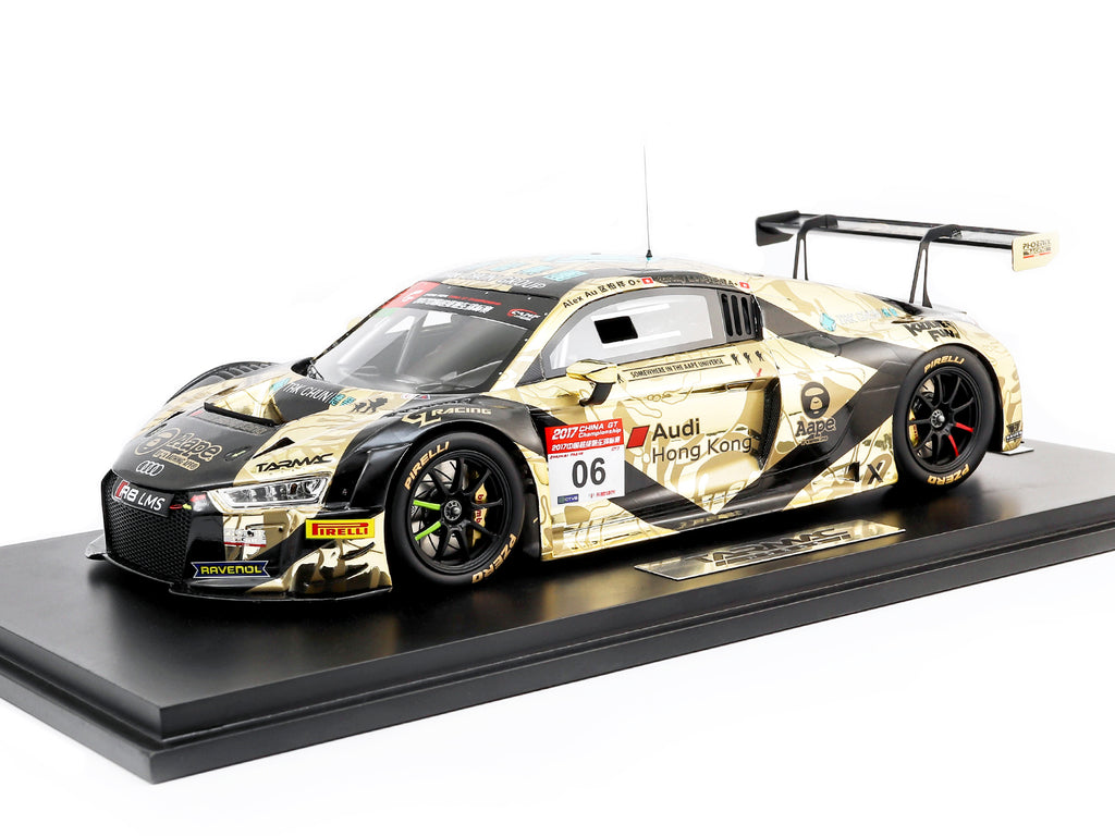 Tarmac Works 1/18 Audi R8 LMS - China GT 2017 #06 - AAPE/ Tak Chun Group - Marchy Lee/ Alex Au