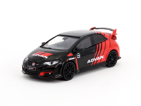 Tarmac Works 1/64 Honda Civic Type R (FK2) Advan Livery with Racing Wheels - HOBBY64