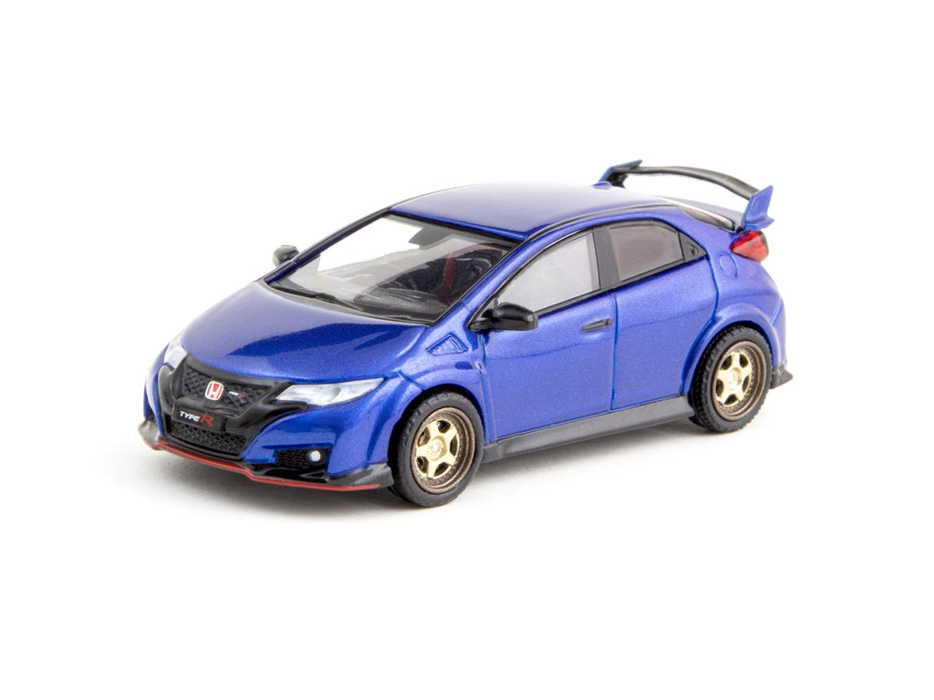 Tarmac Works 1/64 Honda Civic Type R (FK2) Brilliant Sporty Blue Metallic with CR01 Wheels- ROAD64