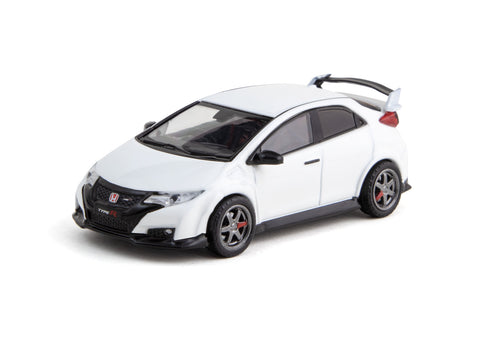 Tarmac Works 1/64 Honda Civic Type R (FK2) Championship White with TE37 Wheels- ROAD64
