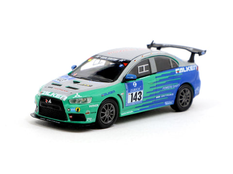 Tarmac Works 1/64 Mitsubishi Lancer Evolution X Nurburgring 24H 2010 #143 - HOBBY64