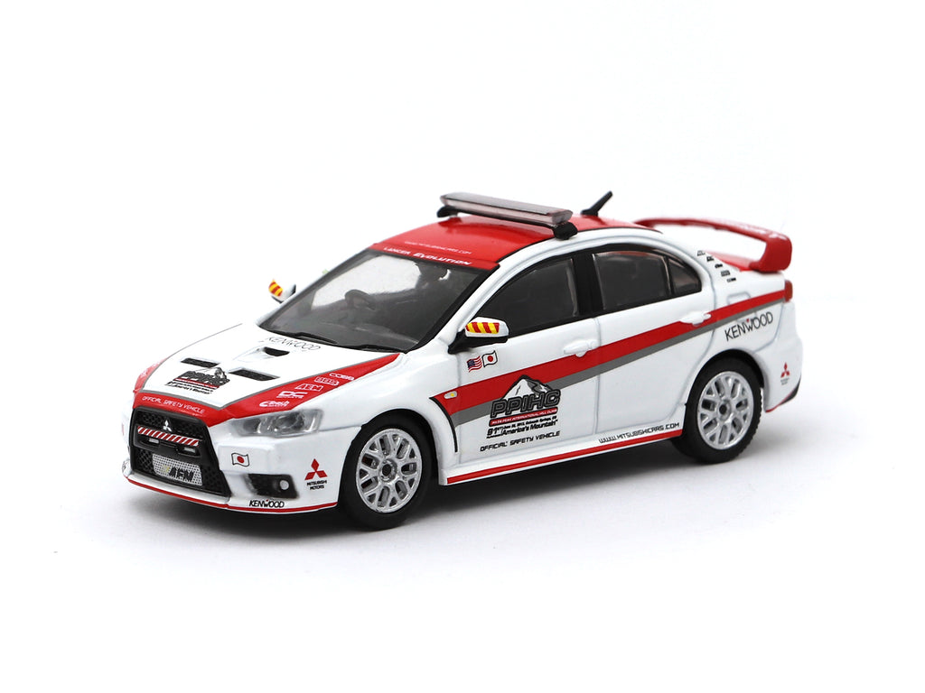 Tarmac Works 1/64 Mitsubishi Lancer Evolution X Pikes Peak Safety Car - HOBBY64