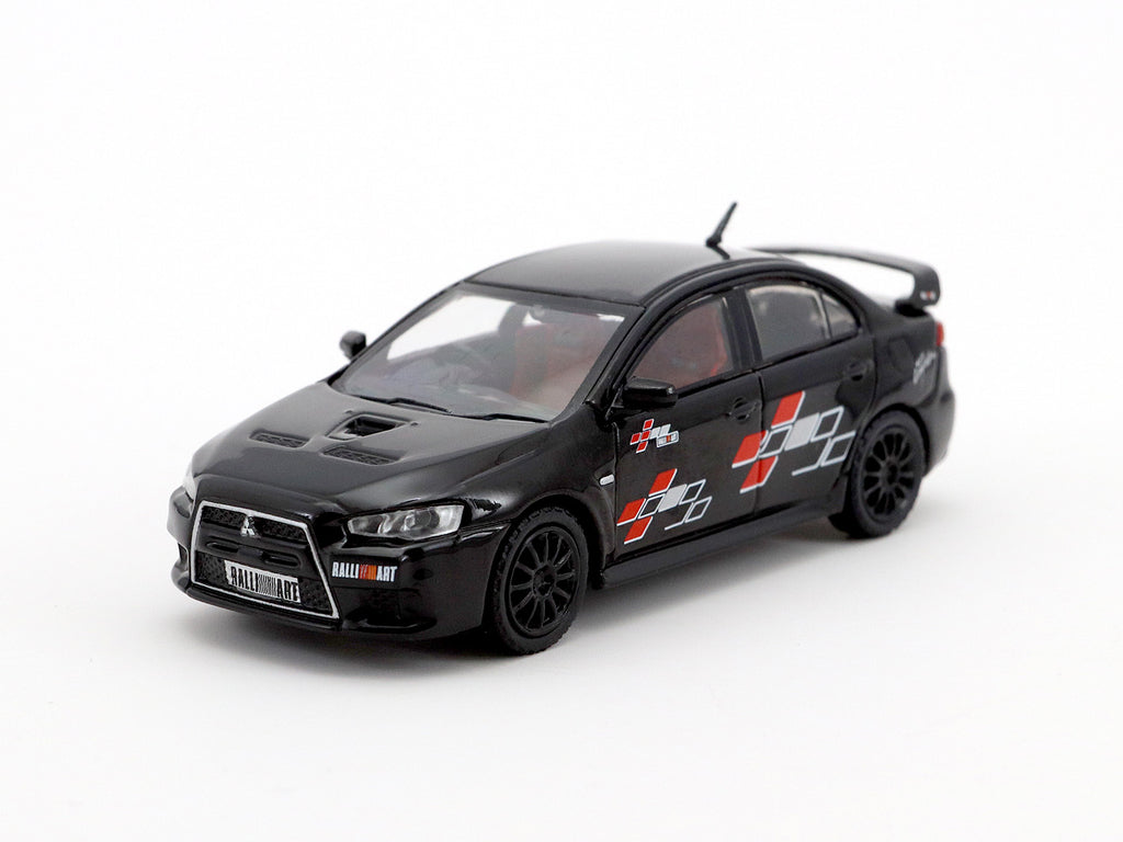 Tarmac Works 1/64 Mitsubishi Lancer Evolution X Ralliart Edition - Black - HOBBY64