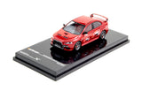 Tarmac Works 1/64 Mitsubishi Lancer Evolution X Ralliart - Red - with TE37 Wheels - HOBBY64