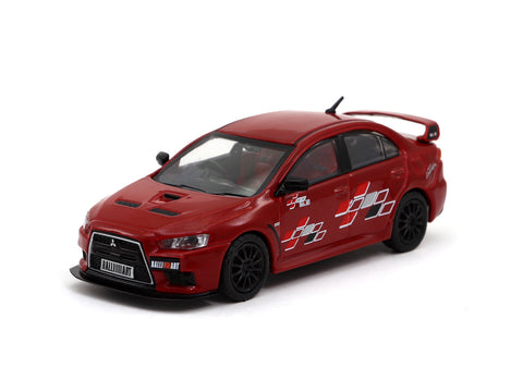 Tarmac Works 1/64 Mitsubishi Lancer Evolution X Ralliart - Red - HOBBY64