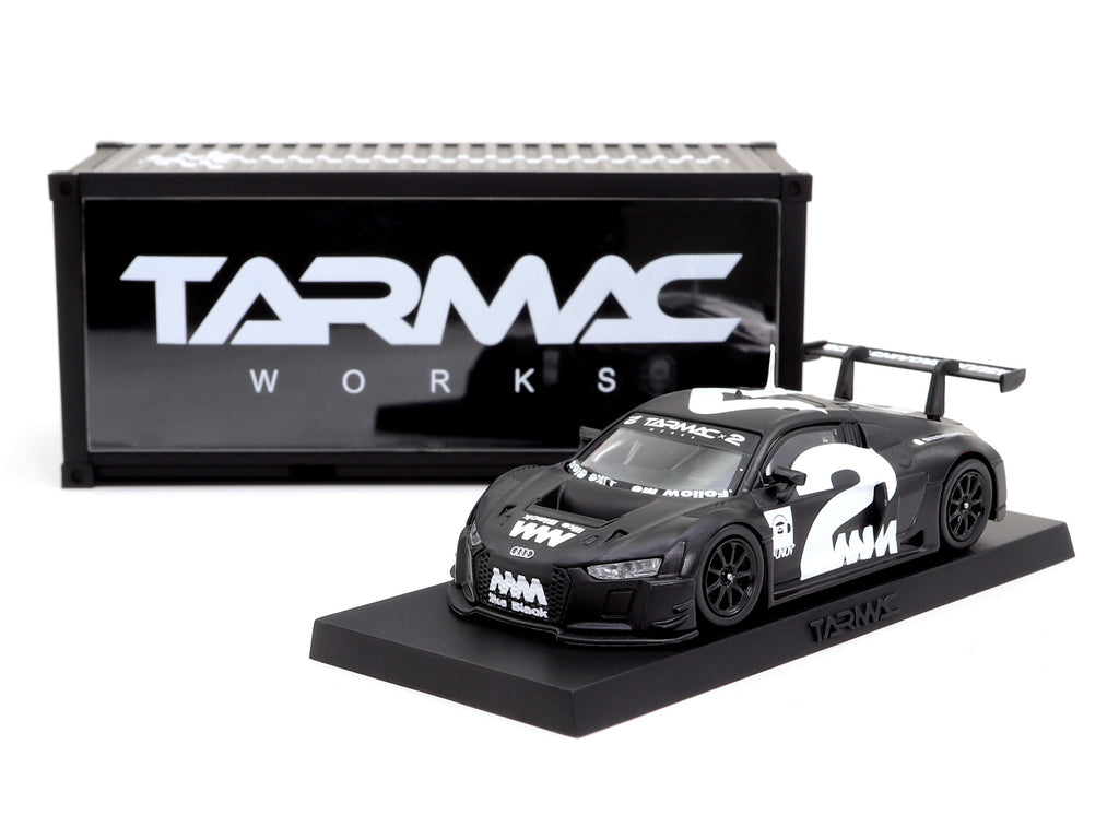 4A like Black x Tarmac Works 1/64 Audi R8 LMS - White