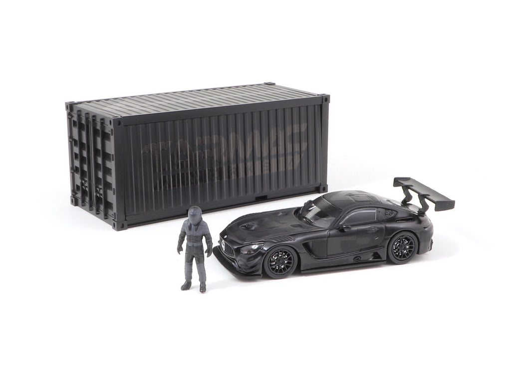 Tarmac Works 1/64 Mercedes-AMG GT3 4A Like Black No. 3 (Black) with Container - Web Store Special - HOBBY64