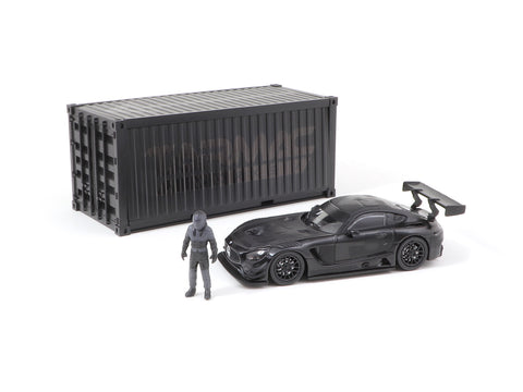 Tarmac Works 1/64 Mercedes-AMG GT3 4A Like Black No. 3 (Black) with Container - WebStore Special - HOBBY64