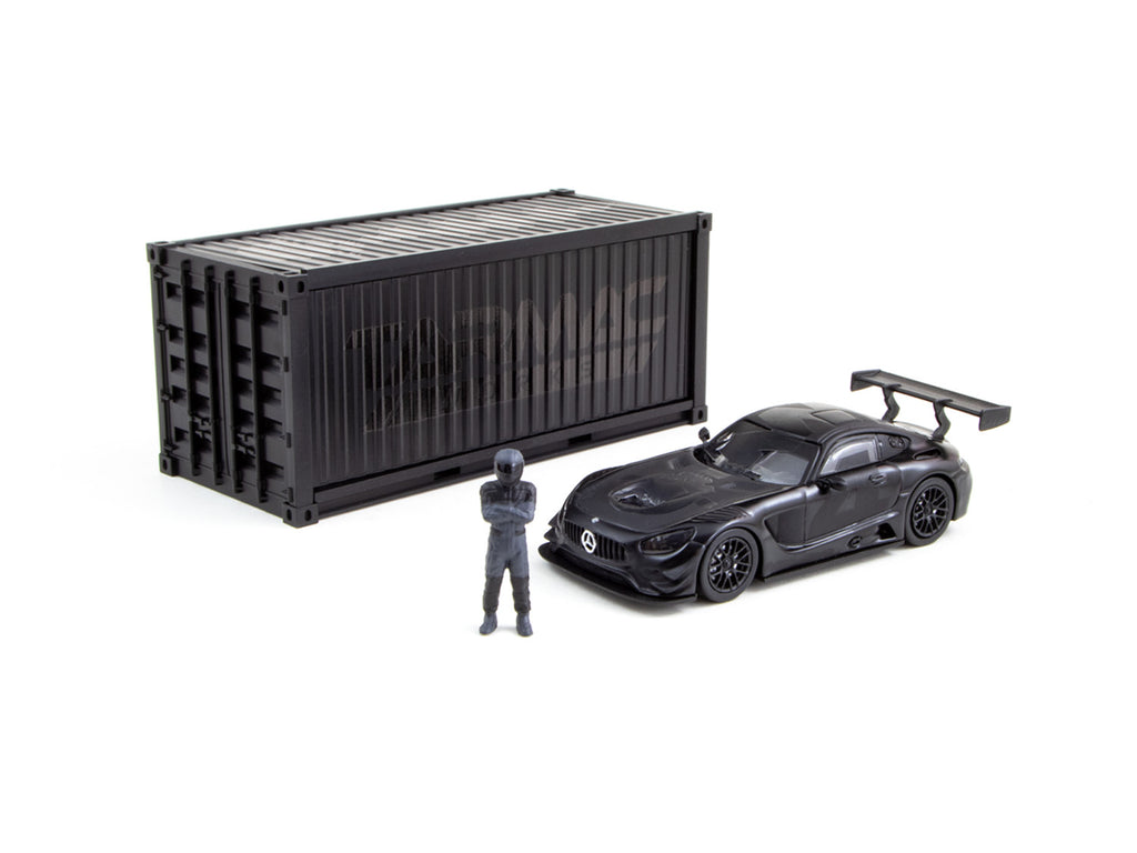 Tarmac Works 1/64 Mercedes-AMG GT3 4A Like Black No. 4 (Black) with Container - WebStore Special - HOBBY64
