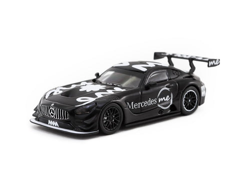 *Mercedes me Store Exclusive* Tarmac Works 1/64 Mercedes-AMG GT3 4A Like Black Mercedes me Macau GP 2018 Presenation