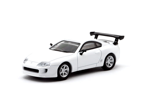Tarmac Works 1/64 Toyota Supra Racing Version White - Hong Kong Exclusive Model