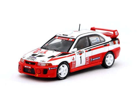 Tarmac Works 1/64 Mitsubishi Lancer Evolution V Sanremo Rally 1998 #1 Winner