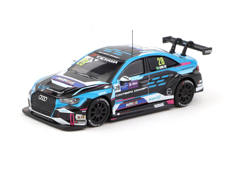 Tarmac Works 1/64 Audi RS 3 LMS WTCR Race of Macau 2018 #28 Kevin Tse