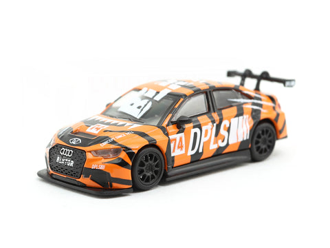 Tarmac Works 1/64 Audi RS3 LMS BLKTGR Orange - Tarmac Works x DPLS Special Edition - HOBBY64