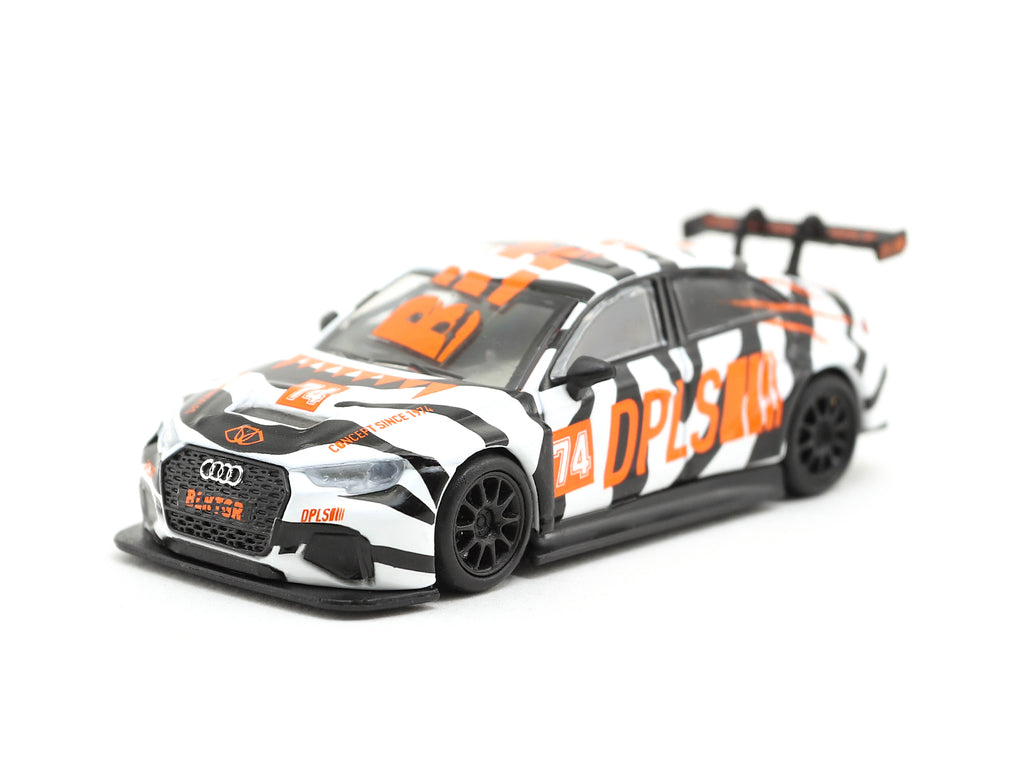 Tarmac Works 1/64 Audi RS3 LMS BLKTGR White - Tarmac Works x DPLS Special Edition -HOBBY64