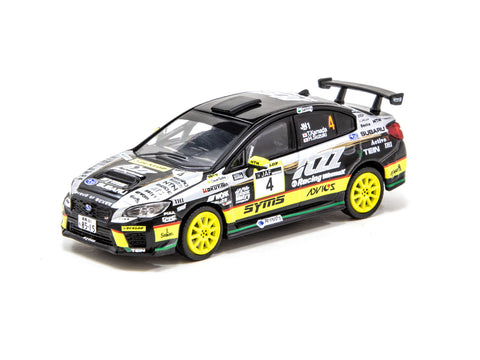 Tarmac Works 1/64 Subaru WRX STI All Japan Rally Championship #4 2019 Champion - HOBBY64