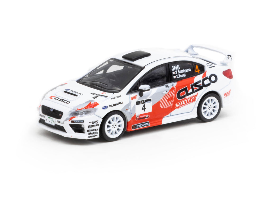 Tarmac Works 1/64 Subaru WRX STI Japanese Rally Champion 2015 #4 - HOBBY64