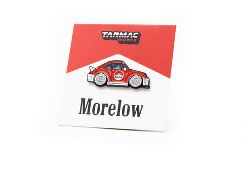 Tarmac Works X Leen Customs RWB 993 Morelow Lapel Pin - MiniCar Fest Hong Kong Special Edition