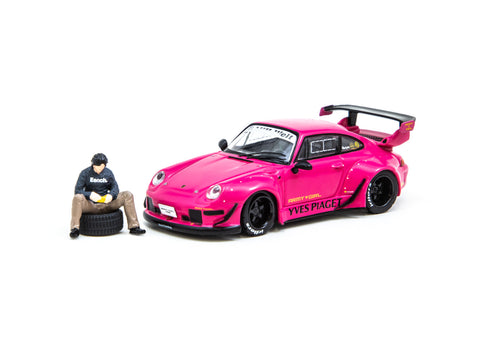 Tarmac Works 1/64 RWB 993 Yves Piaget - Black Rims with Minifigure - China Special Edition - HOBBY64