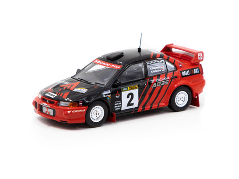 Tarmac Works 1/64 Mitsubishi Lancer Evolution VI Rally of Canberra 1999 #2 Winner - HOBBY64